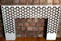 Floor Mounted Lace Console Tables / Amazing console tables on Lace and Geometric Patterns