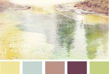 Barwy - zestawienia / Różne zestawienia kolorów dla inspiracji