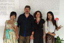 """DQVTM Wuhan, Hubei, Chine  / en juin 2014 / 5 artistes lorrains en résidence à l'Institut des Beaux Art du Hubei à Wuhan, dans le cadre du programme culturel """"Dans Quelle Vie Tu Monde(s)?"""""""