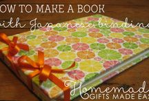 Book Crafts / Creative ways to make a book, a book cover, or a bookmark, or make stuff using old books!