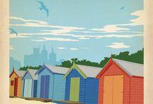 Australian vintage travel posters