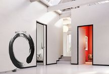 """SHODŌ, the way of writing / It is called SHODŌ, and literally means """"the way of calligraphy"""".  Eclisse presents the unique integrated system with flush with the wall jambs and architraves, which applies without any interruption."""