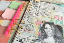 Blog Posts - Creative or Artful Planners / Tips, tricks, inspiration or ideas posted on blogs about making creative planners using digital scrapbooking, mixed media or art journal products
