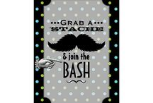 Little Man Mustache Birthday Party / Planning a Stache Bash? Mustache madness is all the rage and it's here to stay. This hip retro coordinating suite is sure to make your Dashing Little Man's Party a success.