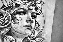 Face tattoo board