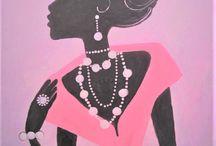 Acrylic painting glitz and glam!