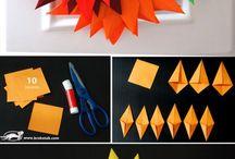 autumn paper decorations