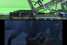 behind the scenes, green screen ect.