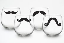 Mustache Man Tablescape / This table is centered around wine and heartier snacks. / by Amanda Smith