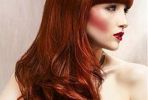 Red hair pins
