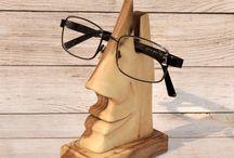 Telefonholder + briller