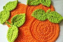 Patrón alfombra naranja