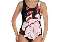 SWIMSUIT - ONE PIECES / This one-piece swimsuit for all figures will bring out your best features. Enjoy the smooth fabric and the flattering design, and show it off by the sea or pool!