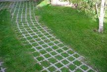sendero de trote en el jardin