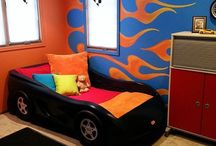 Hot wheels decorated room