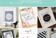 Printables + calligraphy