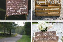 Barn wedding signs