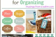 Easy DIY Organization Ideas / by Stephanie Grant