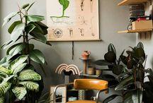 Plant chair corner