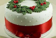pasteles de fondant para navidad varios