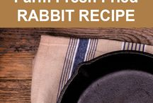 Rabbits / Raising meat rabbits; rabbit recipes