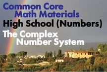 CCHS (Num): The Complex Number System / Common Core High School: Number and Quantity: The Complex Number System. Great teaching resources to help students 1) Perform arithmetic operations with complex numbers. 2) Represent complex numbers and their operations on the complex plane. 3) Use complex numbers in polynomial identities and equations. (New collaborators, we pin a max of one per person per day so that we don't overwhelm followers.)