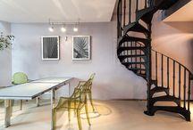 İlginç merdivenler / Merdivenler apartmanların, çok katlı evlerin en önemli noktalarından biridir. Tasarımlarıyla da dikkat çeken merdivenlerden birkaç örnek bu board'da.