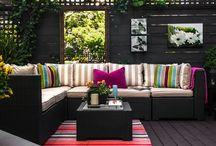 outside patio and garden