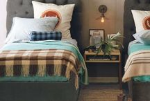 Court circle twin bedroom