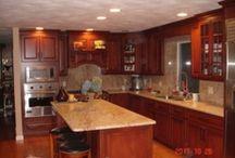 Kitchen Countertops done by Creative Stone / customer granite/quartz countertops.