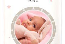 Protège carnet de santé fille / Et si vous achetiez un protège carnet de santé fille personnalisé au prénom avec ajout possible de la date de naissance et même de la photo de votre bébé ?