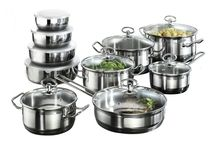 Cookware Pots 20 Piece Home Kitchen Stainless Steel Non Stick Pans Set With Lids