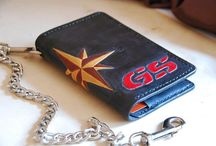 BMW GS Biker wallet with chain,veg tanned leather travel field notes, passport case ,cover, handmade