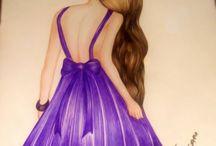 Beautiful Hot Dress Sketch