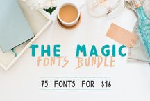 The Magic 75 Fonts Bundle / For four weeks only, you can grab this mammoth pack of 75 incredible fonts for just $16! An incredible deal from a fantastic designer, get yours today!  As always this huge collection comes with our complete license. This allows you to use these fonts across a wide range of commercial projects. Including Word Art, and physical goods.