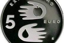 Cod. 267: Moneta in argento proof da €5 - Expo' di Milano