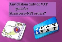 Any custom duty or VAT paid for Strawberrynet orders?