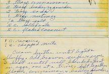 handwritten recipes