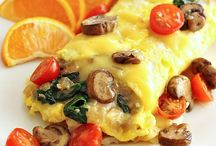 ⌘ World of . . . OMELETS / Anything and everything eggs.  World Egg Day - Oct. 14 National Deviled Egg Day - Nov. 2 / by Deborah Russenberger