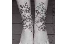 Fuß/Unterschenkel Tattoo