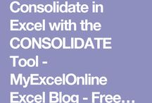 Excel - Consolidate - Konsolidieren