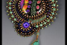beadembroidery fiber jewelry