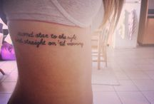 Tattoos. / by Amealia Lopez