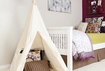 Chambre : tipi, cabane / Chambre pour bébé ou enfant avec tipi ou cabane. Décoration, mode, DIY, Tutorial. Comment faire un Tipi pour ces enfants ? Mil idées pour réussir.