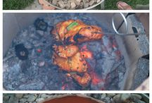 Bahçe fırını , ateş alanı