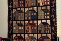Quilts ~ Figural ~ Applique & Pieced ~ Art ~ House ~ Barn ~ Village ~ Scene ~ Basket ~ Album ~ Story / by The Studio @ Northstarz ★