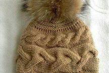 вязание. спицы. шапки