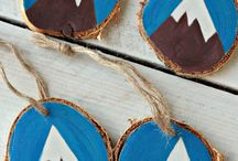 Quirky Wood Ornaments