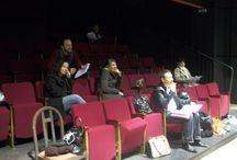 Répétition du spectacle de théâtre en anglais à Lyon / Apprendre ses textes, ses placements, jouer avec ses partenaires...  http://www.id-side.org