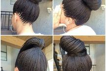 Hair I love: natural and weaved up <3